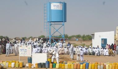 Directaid مشاريع المياه Al-Madinah artesian well - Chad 2