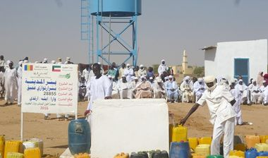 Directaid مشاريع المياه Al-Madinah artesian well - Chad 1