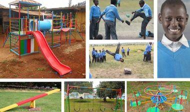 Directaid مشاريع التنمية Playgrounds for orphans 1