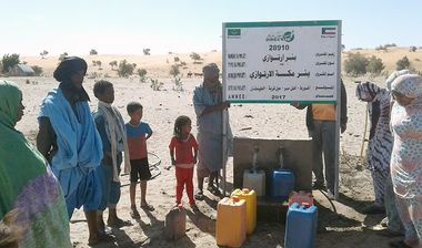 Directaid مشاريع المياه Large artesian well - Mauritania 1