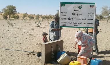 Directaid مشاريع المياه Large artesian well - Mauritania 4