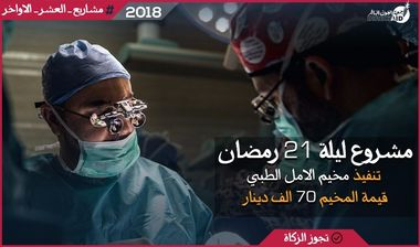Directaid مشاريع كويت بنق Night 21 - Al Amal Medical Camp 1
