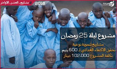 Directaid مشاريع التنمية Night 25 - Development projects for Orphans 1