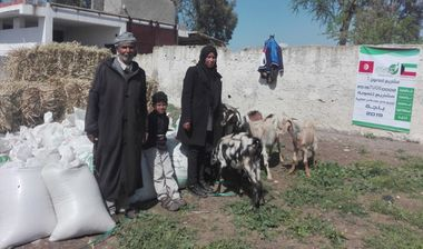 Directaid مشاريع التنمية Al-Maawn Project - Raising Goats - 1 1