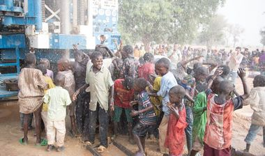 Directaid Water Projects Springs to life Well - 55 - Niger 1