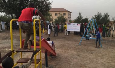 Directaid مشاريع التنمية Playgrounds for Gambia's orphans 13