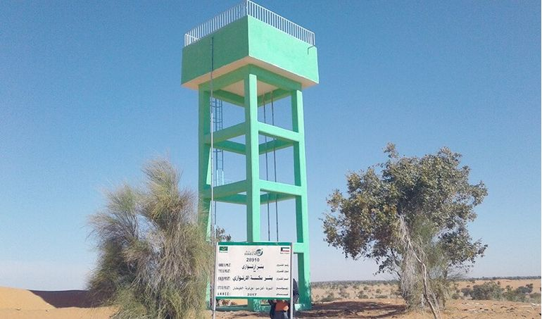Directaid Water Projects Large artesian well - Mauritania 1