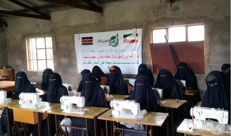 Directaid International Day for the Skills of Young People Projects sewing and embroidery center 7